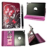 Kamal Star® Apple iPad Pro 12.9 Ultra Slim Cover Smart Leather Case with Stand / Auto Sleep Wake-up+Free Stylus (Purple