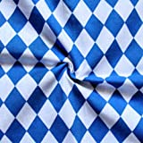 Baumwollstoff Bayern Raute Meterware Blau Weiss