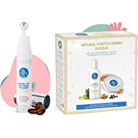 The Moms Co. Natural Vita Rich Under Eye Cream with Cooling Massage Roller and The Moms Co. 7 in 1 Natural Stretch Bio…