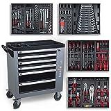 hanSe® Werkstattwagen gefüllt 245-teilig Werkzeug Werkstatt