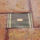Voller kupferner quadratischer einzelner Gebrauch-Deo-Boden-Abfluss-Küchen-Badezimmer-Boden-große Verdrängung-Entwässerung Anti-Clogging
