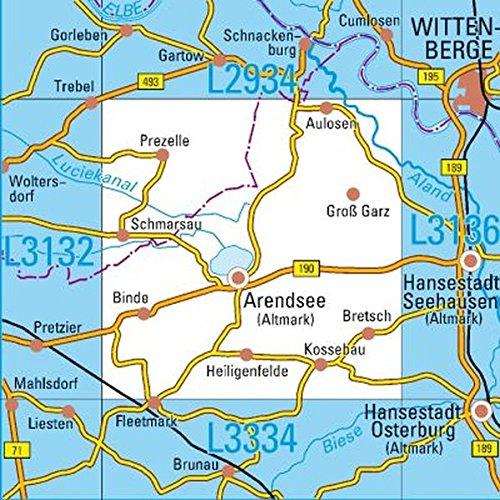 L3134 Arendsee (Altmark) Topographische Karte 1:50000: DTK50 Sachsen-Anhalt