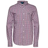 Henleys Mens Abbey Or Croft Or Albert Long Sleeved Shirt - Croft - Red/Blue Gingham - X Large
