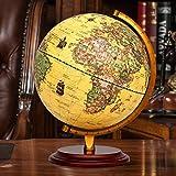 OOFAY Antike Holzboden Basis Großen Durchmesser 25Cm Antik Globe Beleuchtung