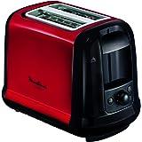 MOULINEX Subito Grille pain 2 fentes rouge toaster Thermostat 7 position Décongetaion Rechauffage Remontrée extra haute LT260