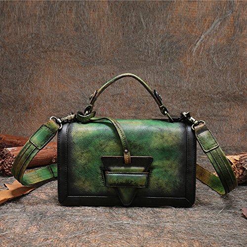 Nouvelle mode rétro-minimaliste en acier inoxydable épaule bandoulière sac à main Color gray-green
