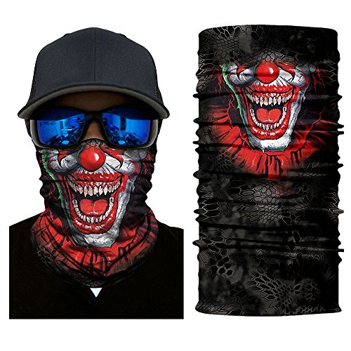 Heinmo Motorrad Seamless Schädel Magic Head Gesichtsmaske Schild Sun Neck 3D Ski Balaclava Multifunktions Windproof Anti-UV-Winter Reiten Halstuch Headwear