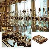Gardine, 1 Pcs elegante Vorhänge Gardine für Wohnzimmer, Schlafzimmer, Arbeitszimmer-1.58m (W) x 2.7m (H) (158x270cm)