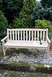 Die Mayfair Chunky Classic Hartholz, 3-Sitzer Gartenbank Aus Holz, Mittelgroß, Für Den Außenbereich