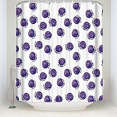 Mildew Resistant Fabric Shower Curtain Bathroom Shower Curtain With Hooks Waterproof/Water-Repellent&Antibacterial Eco Friendly Shower Curtain Decorative Hand-Painted Circle