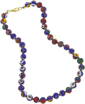GlassOfVenice Collana Mosaico Vetro di Murano - Blu