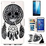 For Huawei P8 Lite 2017 Wallet Case And Screen Protector