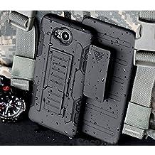 Nokia Lumia 820 Hülle, Cocomii Robot Armor NEW [Heavy Duty] Premium Belt Clip Holster Kickstand Shockproof Hard Bumper Shell [Military Defender] Full Body Dual Layer Rugged Cover Case Schutzhülle Nokia (Black)