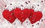 Benutzerdefinierte Kirschblüten Liebe Herz Fototapete Wandbild Ehe Wohnzimmer Schlafzimmer Schlafzimmer Tv Hintergrundbild 200cm(W) x150cm(H)