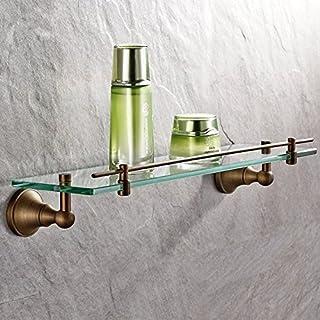 Unbekannt auswind Messing antik Badezimmer Regal Glas Aufbewahrung Wand montiert Badezimmer Hardware 37,8cm (38cm)