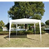 Outsunny Carpa Impermeable Blanco Acero Oxford 3x3m
