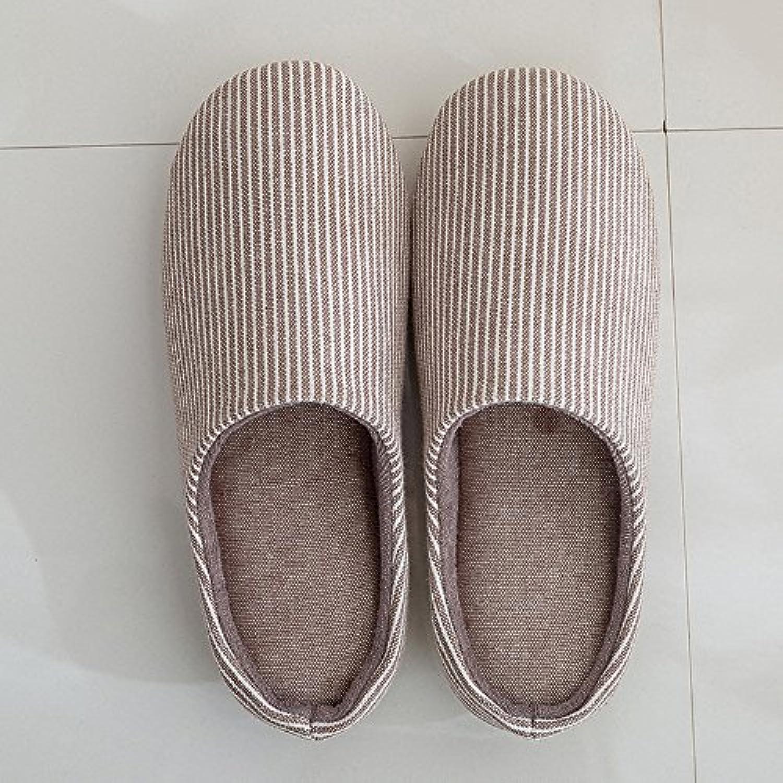 ZHIRONG Pantalons Pantalons Pantalons Pantalons Coton Hommes et Femmes Chaussons Antidérapants ( Couleur : Marron , taille : L(39-... - B075DDRMBT - c79e23