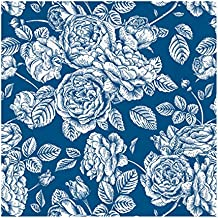 Servilletas de papel decoradas con diseño Royal - Color Azul - 33 x 33 cm -