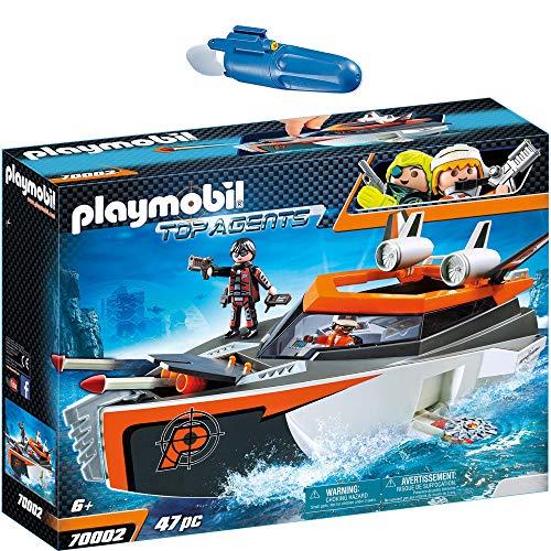 PLAYMOBIL® Top Agents 2er Set 70002 7350 SPY Team Turboship + Unterwassermotor