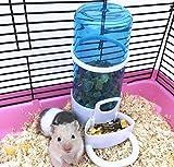 Old Tjikko Automatische Futterspender,Haustier Automatische Wasserspender,Hängen Trinkflasche Haustier Wasserflasche Kleintierfutterautomat für Nager Hamster Hasen Kaninchen und Vogel 260g