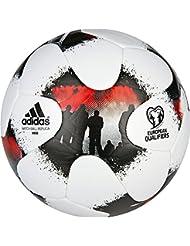 Adidas europeanqmini Ballon de football, homme, blanc (Blanc/rojsol/noir), 1