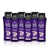 Gliss - Champú Fiber Therapy - 250ml (pack de 6) Total: 1500ml
