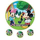 Tortenaufleger Geburtstag Tortenbild Zuckerbild Oblate Motiv: Disney Minnie Maus 11 (Zuckerpapier)