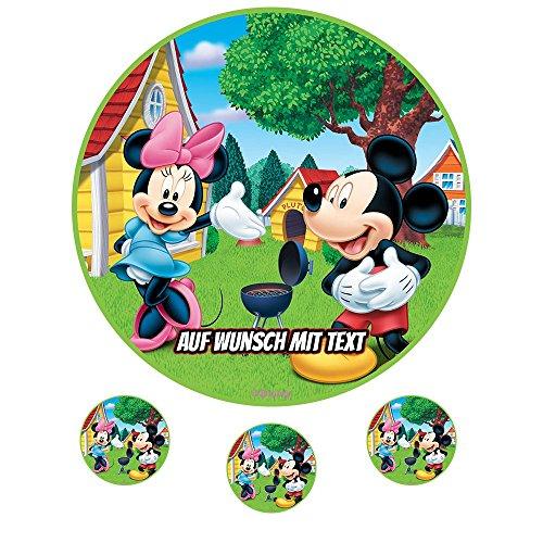 tstag Tortenbild Zuckerbild Oblate Motiv: Disney Minnie Maus 11 (Zuckerpapier) ()