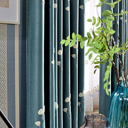 Bay-schlafzimmer-set (Gestickte Vorhänge & Vorhänge Blackout Fensterbehandlungen Fertig Produkt Schlafzimmer Wohnzimmer Moderne Ländliche schwimmende Vorhänge Bay Window -1PC , 1pc(150x220cm))