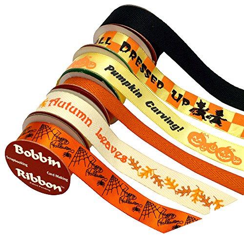Morex Bobbin Band für Scrapbooking, Halloween, 6er Pack (O Lantern Jack Scary)