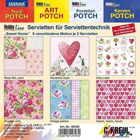 NEU Servietten-Mischpackung, 12 Stk, 'Sweet Home' [Haushaltswaren]