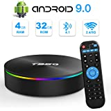Android 9.0 TV Box, Android Box 4GB RAM 32GB ROM S905X2 Quad-core Cortex-A53 Support 2.4G/5G WiFi/H.265 Decoding/4K Full HD Output/ HDMI2.0/ 100M Ethernet/ Bluetooth 4.1 Smart TV Box