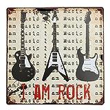 Bluelover Gitarre Tin Sign Vintage Metall Plaque Poster Bar Pub Haus-Wand-Dekor