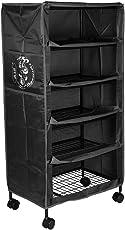 Divi Divine Baby Folding Iron Storage Rack (5 shelves) Black