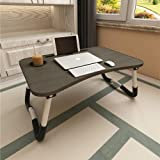 Laptop Bed Table, Aitmexcn Foldable Portable Lap Standing Desk with Cup Slot, Notebook Stand Breakfast Bed Tray Book Holder f