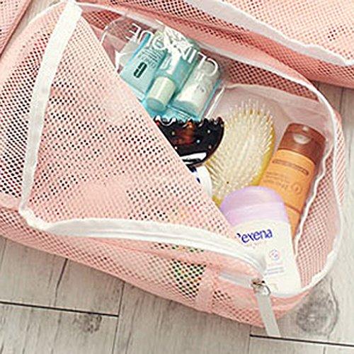 Wasserdichte Aufbewahrungsbeutel für unterwegs, für Unterwäsche und Makeup blau braun