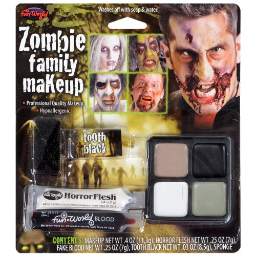 Zombie Family Makeup Kit - Perfect For Halloween