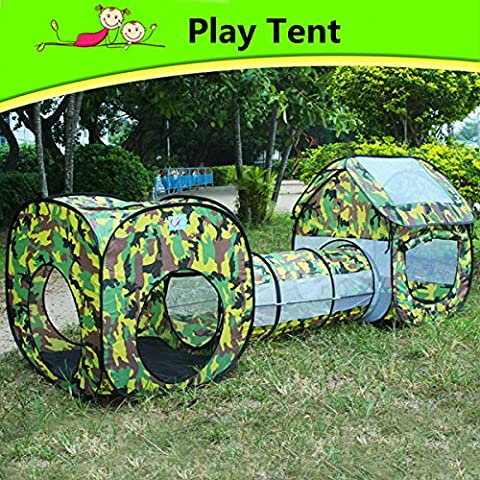 MaMaison007 Niños deportes césped diversión al aire libre Camping carpa Playhouse túnel debajo del piso