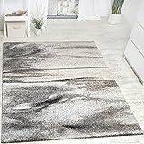 Paco Home Teppich Meliert Modern Webteppich Wohnzimmerteppich Hochwertig in Grau Beige, Grösse:160x230 cm