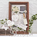 Ginger Ray Or rose Mariage Photo Booth Mr et Mme/parti Props kit ? Superbe Botanics