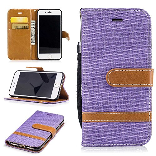 iPhone 8 Case, Hit Color BRAREDE® [Concise] [Solid Color] iPhone 8 Leather Case Cover iPhone 8 Leather Wallet Flip Cover,[Fashion/ Card Slots/ Magnetic Closure/ Stand Function] Premium PU Leather Flip Wallet Cover Case for Apple iPhone 8