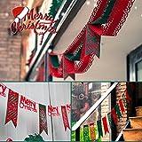 Okaytec Set 2 Weihnachtsdeko Wohnung Weihnachtsgirlande Girlande Abend Weihnachtsdekoration – 3M Lange Wellen Vorhang + Fensterdekoration Girlande – Innendekoration Zum hängen für Weihnachten