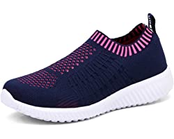 TIOSEBON Women's Athletic Lightweight Casual Mesh Walking Shoes - Breathable Running Sneakers