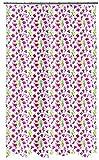 Spirella Textil-Duschvorhang Mille Fleurs 180x200 cm, Stoff, Pink, 180 x 200 cm