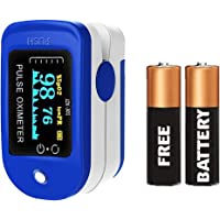 Dr. Vaku Pulse Oximeter Fingertip for Doctors/Personal Use | Highest Accuracy Blood Oxygen Level SpO2 Monitor (Blue)
