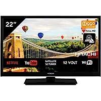"Hitachi 22HE4002 Android TV Smart WiFi 22"" 56 cm Full HD LED TV DVB-S2/C/T2 – [Fonctionnement 12 V et 220 V possible…"