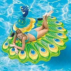 Idea Regalo - Sunnywill Piscina Estiva all'aperto Nuota con baldacchino Divertimento sull'acqua Pavoni d'Aria galleggianti Dimensioni: 195X165X95cm