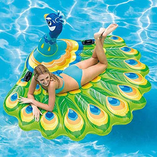 Sunnywill Piscina Estiva all\'aperto Nuota con baldacchino Divertimento sull\'acqua Pavoni d\'Aria galleggianti Dimensioni: 195X165X95cm