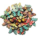 KINGSO 50pcs 2 Holes Mixed Butterfly...