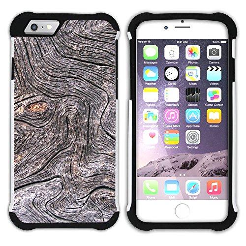 Graphic4You WOOD SKIN Muster Hart + Weiche Kratzfeste Hülle Case Schale Tasche Schutzhülle für Apple iPhone 6 / 6S Design #14